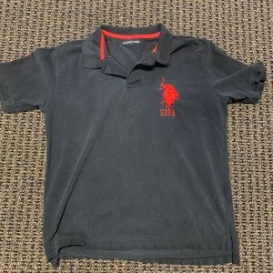 Polo shirt black with red horse size medium